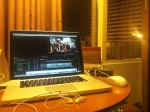 Editing all through the night in Vegas.
